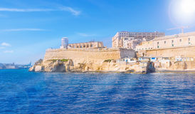 Travel Malta. Traditional medieval architecture of Valletta, famous place of Malta, in summer season Royalty Free Stock Image