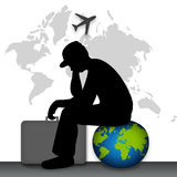 Travel man Royalty Free Stock Photography