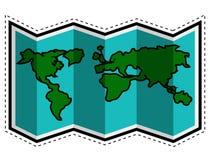 Travel map dotted sticker. Vector illustration design royalty free illustration