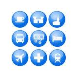 Travel map guide utility icons Stock Photos