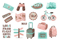 Travel map icons 02 Stock Photography