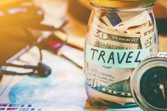 Free Travel. Map. Selective Focus. Royalty Free Stock Photo - 111432295