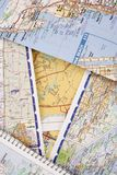 Travel Maps Royalty Free Stock Photos
