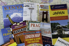 Travel maps Stock Photos