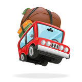 Travel Minivan Car Icon Vacation   Realistic 3d Design Vector Illustration Stock Images