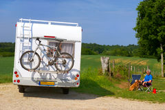 Travel by mobil home Stock Image