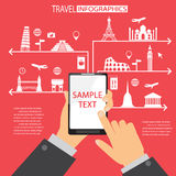 Travel mobile apprication Royalty Free Stock Images