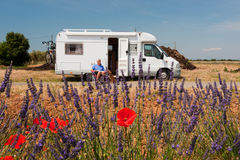 Travel by mobile home Royalty Free Stock Photo