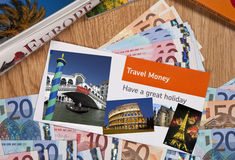 Travel Money - Europe - Vacation Royalty Free Stock Photography