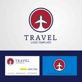 Travel Morocco Creative Circle flag Logo and Business card design. This Vector EPS 10 illustration is best for print media, web design, application design royalty free illustration