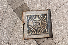 Travel in Moscow, sewer manhole Stock Photos