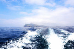 Travel with motorboat, Ireland Royalty Free Stock Images