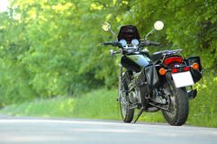 Travel motorcycle. On the road Royalty Free Stock Image