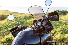 Travel on motorcycle. Royalty Free Stock Image