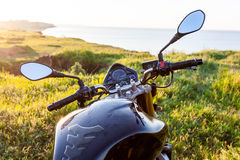 Travel on motorcycle. Stock Photos