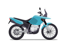 Travel motorcycle off road, concept, active lifestyle, enduro. Flat vector illustration. Isolation on white background. Travel motorcycle off road, concept Royalty Free Stock Image