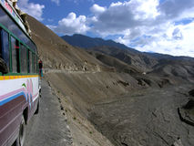 Travel in mountains. Impressive road from srinagar to leh Stock Photography