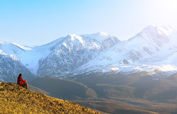 Travel in the mountains Stock Photography