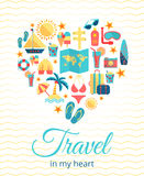 Travel in my heart. Vector concept Stock Images