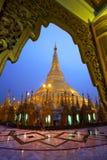 Travel in myanmar. Pagoda in myanmar on the rain Royalty Free Stock Images