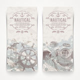 Travel and nautical Vintage banners Royalty Free Stock Images