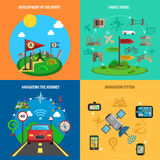 Travel And Navigation Decorative Icon Set Stock Photo