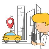 Travel and navigation design. Gps and boy of travel navigation and route theme Vector illustration Royalty Free Stock Image