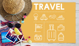 Travel Navigation Journey Vacation Trip Concept Royalty Free Stock Images