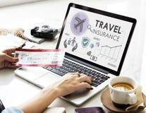 Travel Navigation Journey Vacation Trip Laptop Concept Stock Photos