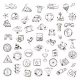 Travel and navigation, vector set Stock Images