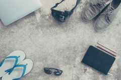Travel necessary equipment Royalty Free Stock Photography