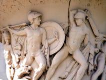 Travel-New Orleans-Louisiana-Battle Scene-Roman Statues on a Vase Royalty Free Stock Image