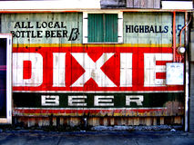 Travel-New Orleans-Old Tavern Dixie Beer Sign Royalty Free Stock Photos