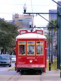 Travel-New Orleans-Streetcar on Canal Street. Travel-Louisiana, New Orleans, Street Car Trolley on Canal Street Stock Photos