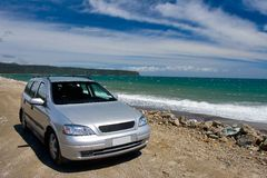 Travel In New Zealand. Car travelling in New Zealand Stock Photography