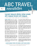 Travel newsletter page layout Royalty Free Stock Photography