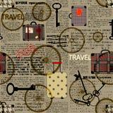 Travel newspaper background. Stock Photo