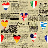Travel newspaper Royalty Free Stock Photography