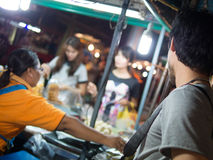 Travel in the night market Royalty Free Stock Image