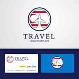 Travel Northern Cyprus Creative Circle flag Logo and Business ca. Rd design - This Vector EPS 10 illustration is best for print media, web design, application royalty free illustration