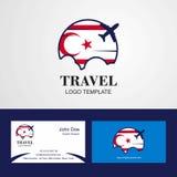 Travel Northern Cyprus Flag Logo and Visiting Card Design. This Vector EPS 10 illustration is best for print media, web design, application design user royalty free illustration