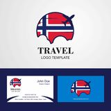 Travel Norway Flag Logo and Visiting Card Design. This Vector EPS 10 illustration is best for print media, web design, application design user interface and vector illustration
