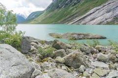 Travel in norwegian fjord Stock Photos