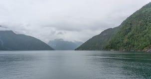 Travel in norwegian fjord Stock Image