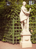 Travel notes. Russia. Statue in the summer park. Saint-Petersburg, Russia Royalty Free Stock Photography