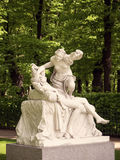 Travel notes. Russia. Statue in the summer park. Saint-Petersburg, Russia Stock Image