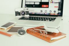 Travel object for Travel planning booking for travel concept Royalty Free Stock Image