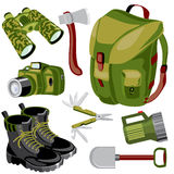 Travel objects vector illustration