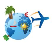 Travel objects Royalty Free Stock Photos