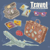 Travel objects collection Stock Photography